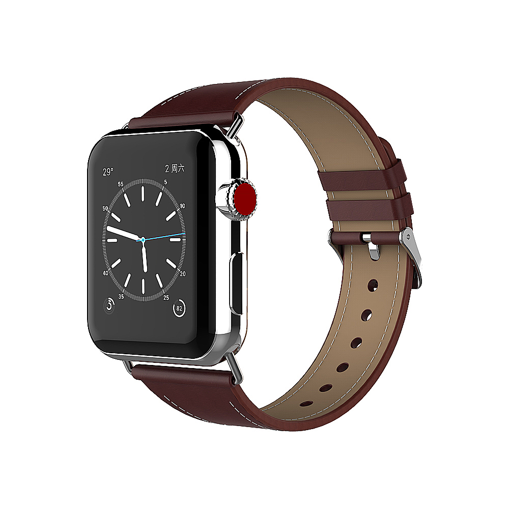 Handodo Hermes Crazy Horse Leather Replacement Band with Stainless Metal Clasp Apple Watch Band image35