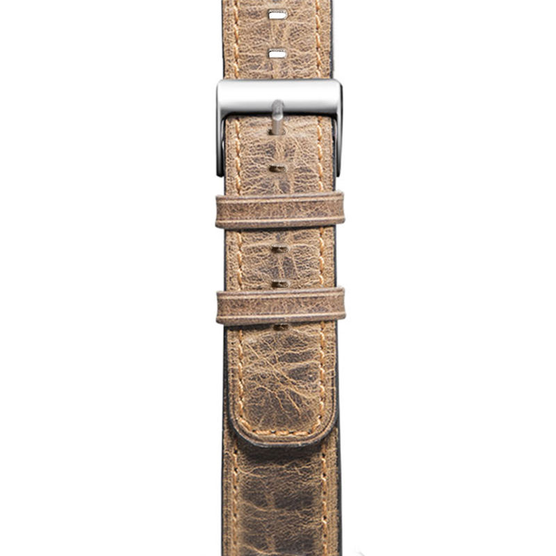 Handodo Apple Watch Retro Vintage leather Replacement with Stainless Metal Clasp Apple Watch Band image33