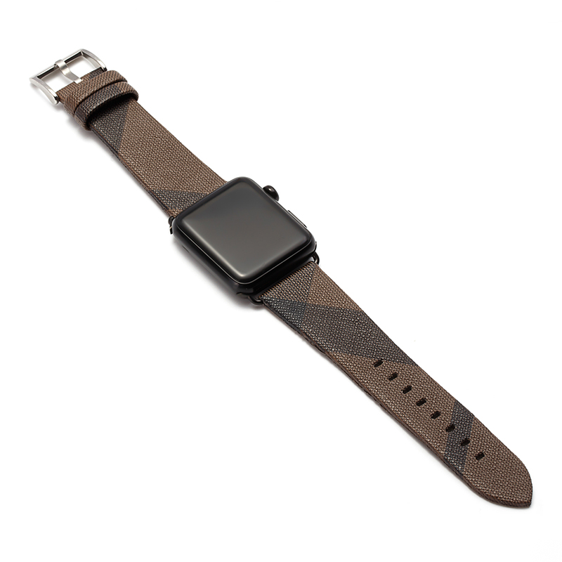 Handodo Fine weave pattern Leather Replacement Band with Stainless Metal Clasp Apple Watch Band image30