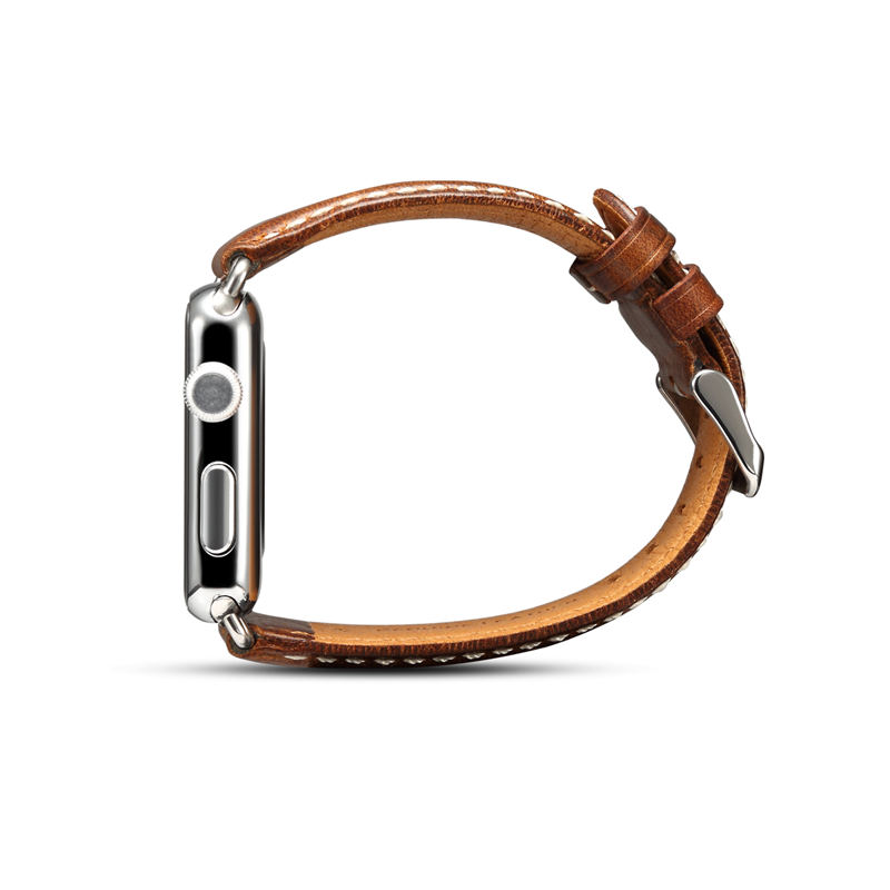 Handodo Top Layer Genuine Leather Replacement Band with Stainless Metal Clasp Apple Watch Band image28