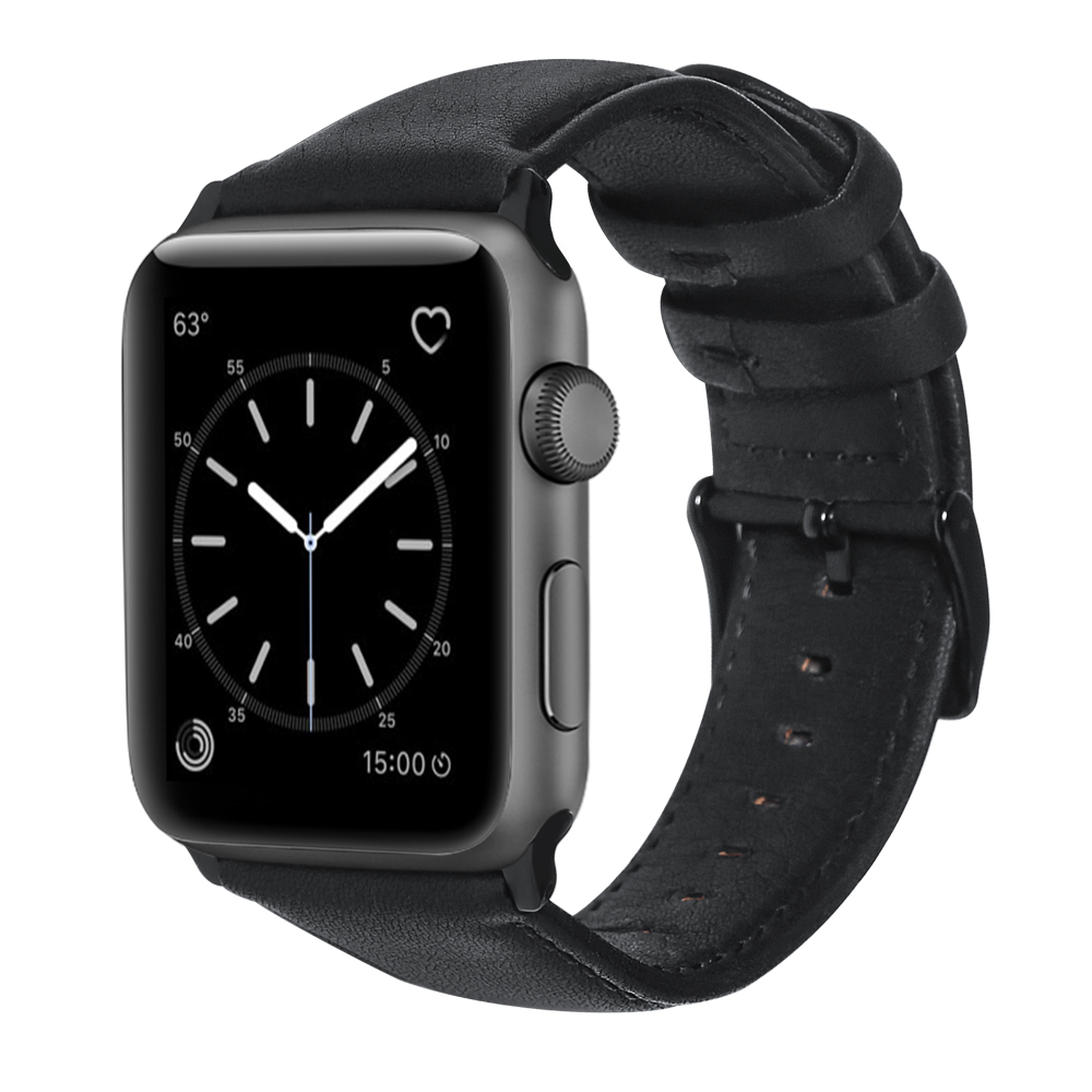 Handodo Oil-wax Leather Replacement Band with Stainless Metal Clasp Apple Watch Band image27