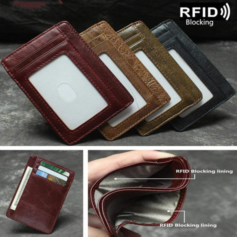 Card holder bag - Antimagnetic RFID Blocking Leather Card Case / Coin Purse