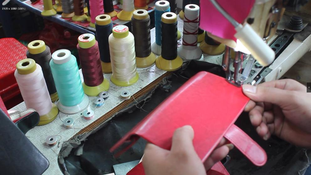 Production video of phone case shaping process