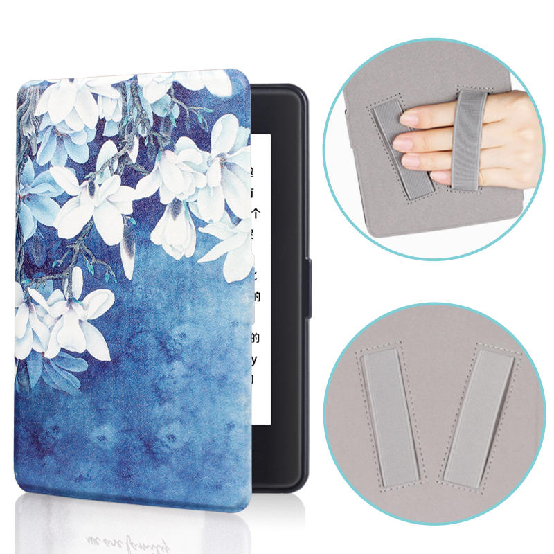 Kindle Paperwhite case – Premium Colored Drawing Cover With Hand Strap