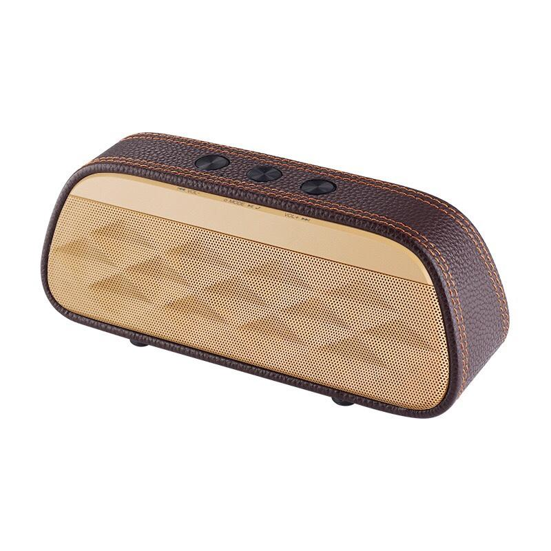 Bluetooth Speaker - High End Leather Stereo Bass Speaker