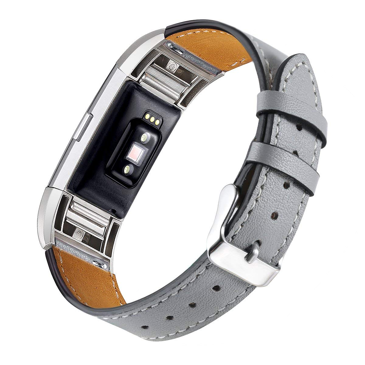 Handodo Fitbit Charge 2 Band - Premium Genuine Leather Wristbands with Metal Connectors Fitbit Band image17