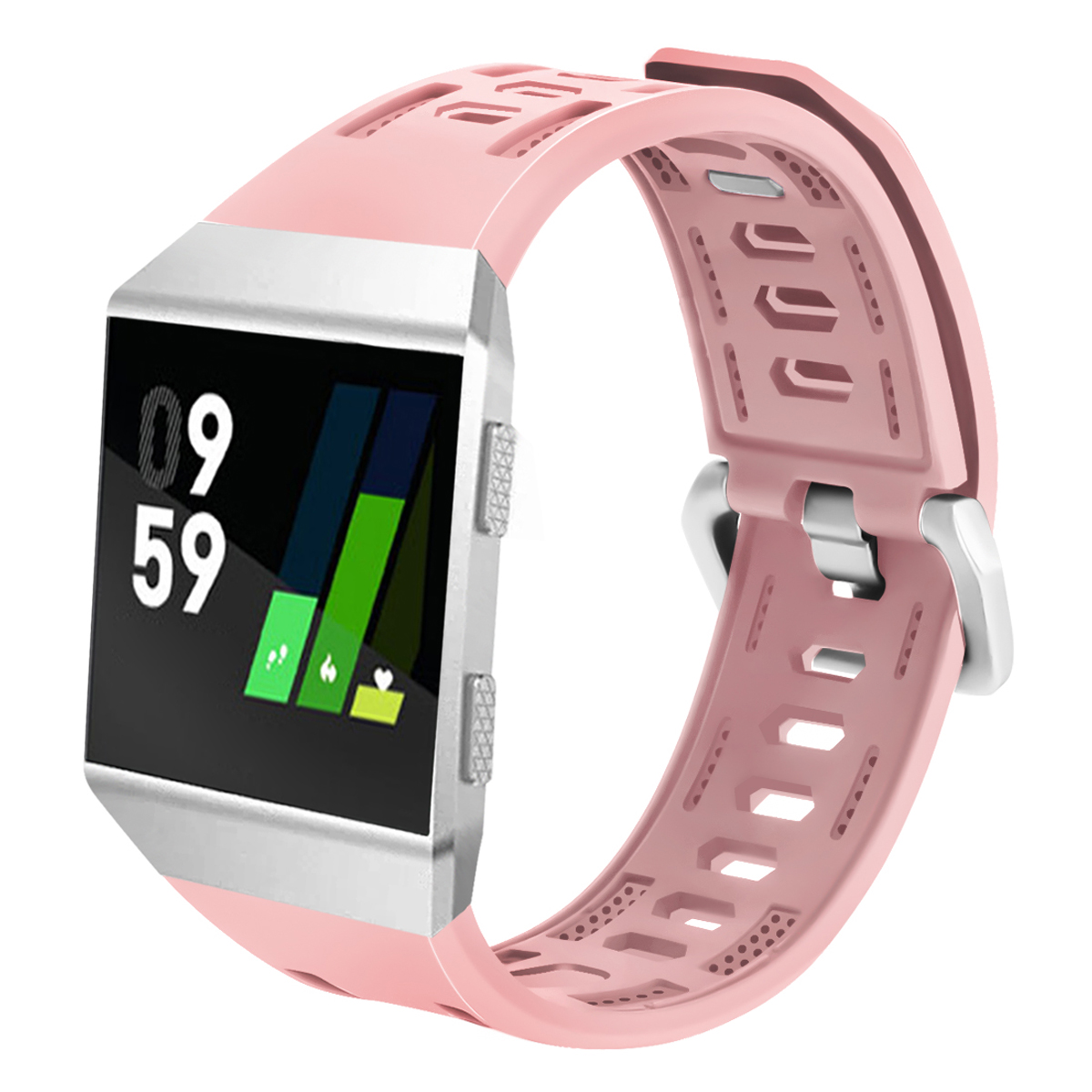 Handodo Fitbit Ionic Band - Soft Silicone Sport Strap Accessories with Ventilation Holes Replacement Wristband Fitbit Band image16