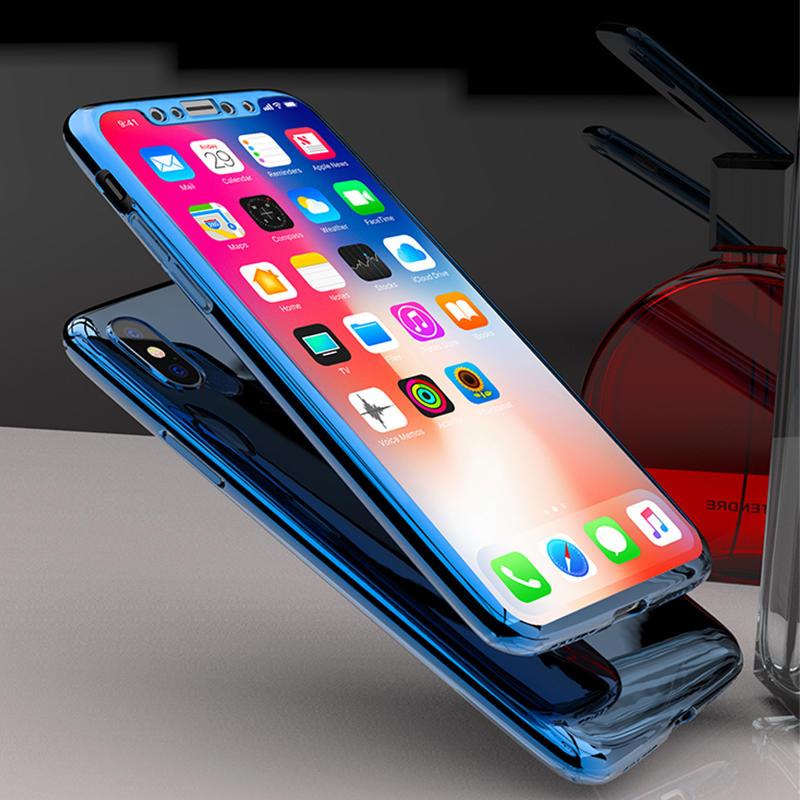 iPhone X Case – 360 full PC mirror case