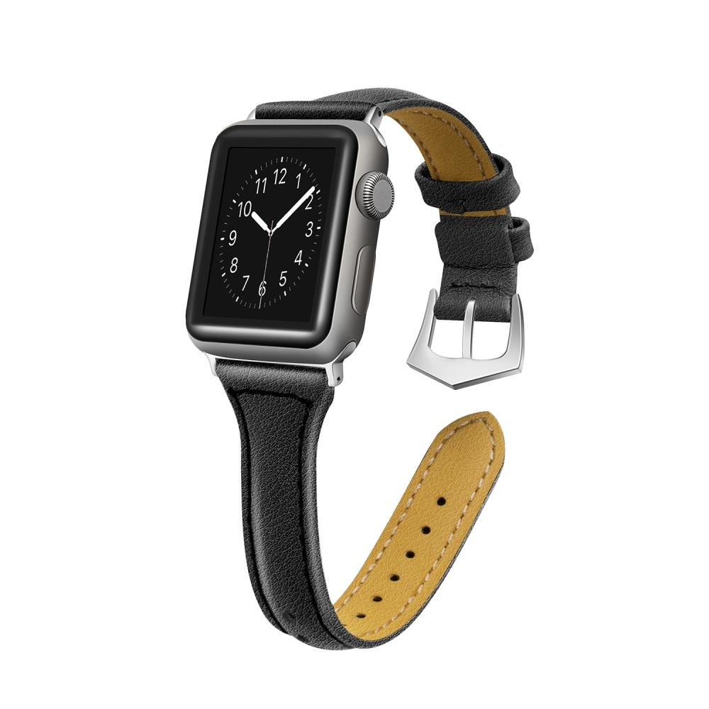 Top Grain Leather T- Shape Band Replacement Strap with Stainless Steel Buckle