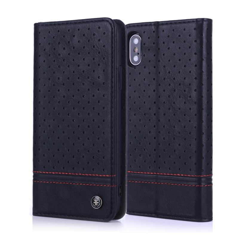 iPhone X Case - PU leather laser engraving pattern iPhone case cover