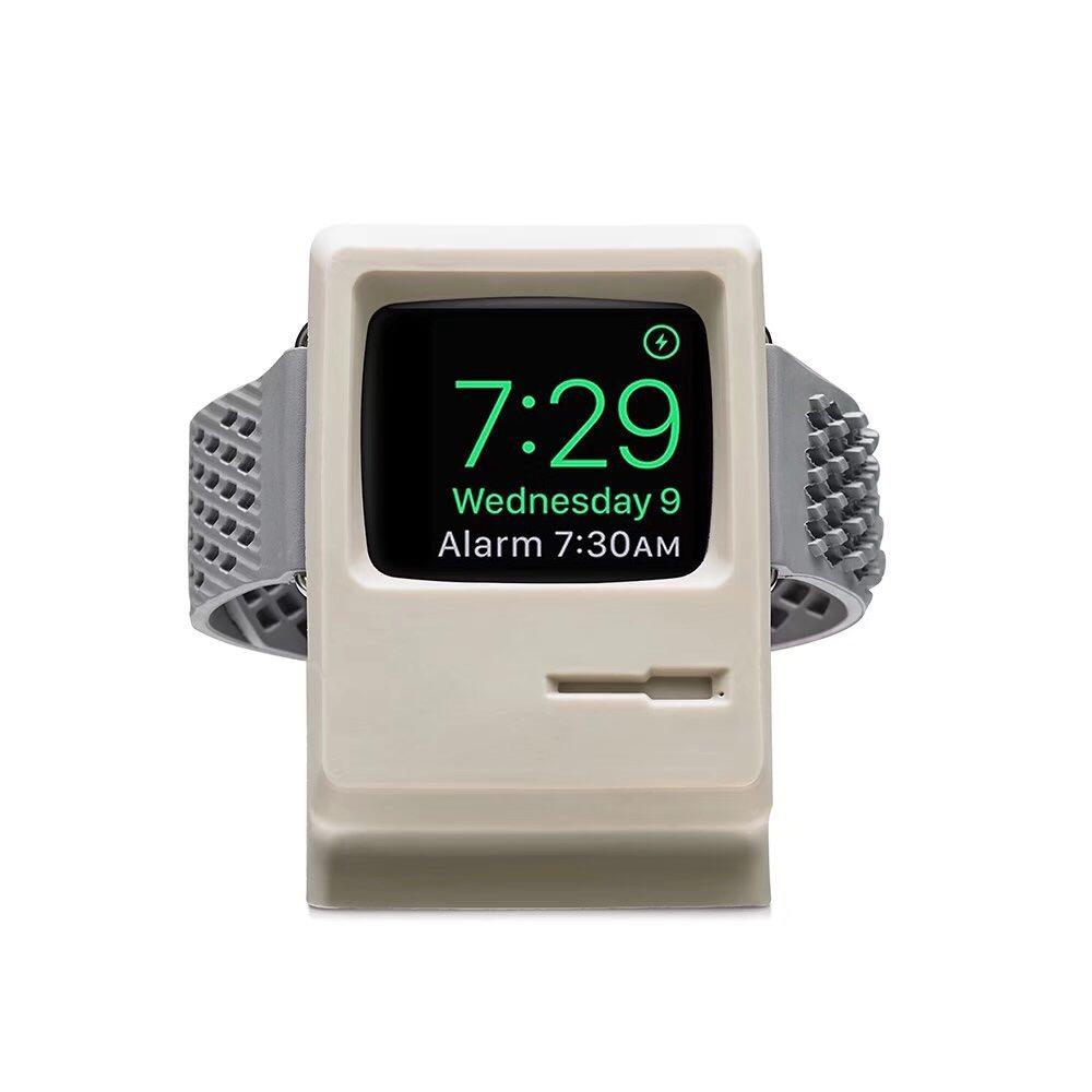 Apple Watch Charger - 1984 Mac Charger Stand Charging Dock Station with Nightstand Mode