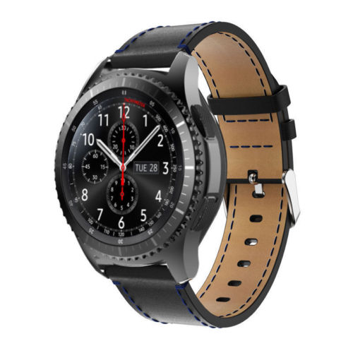 Handodo Samsung Gear 3 Band Genuine leather Band with Stainless Steel buckle Samsung Gear Band image5