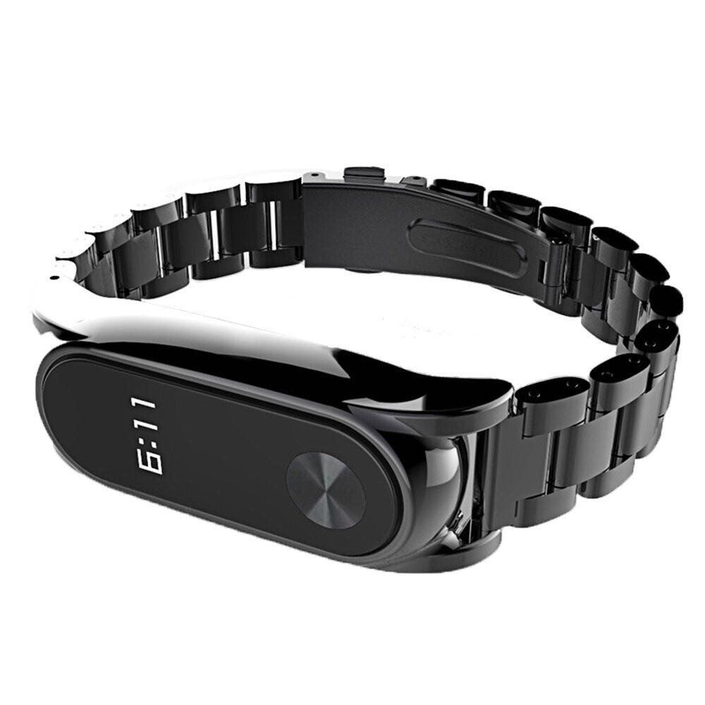Handodo Xiaomi Mi 3 Band Stainless Steel Bracelet Wristbands Xiaomi Band image1