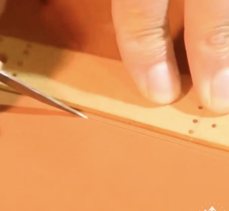 a handmade watch band or strap process